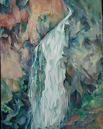 "Feather Falls Oil 14""x18"""